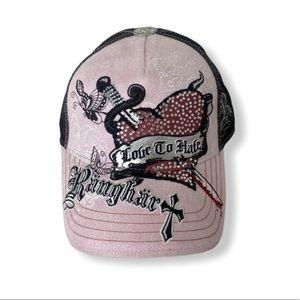 Like new Women's ranghart snap back hat